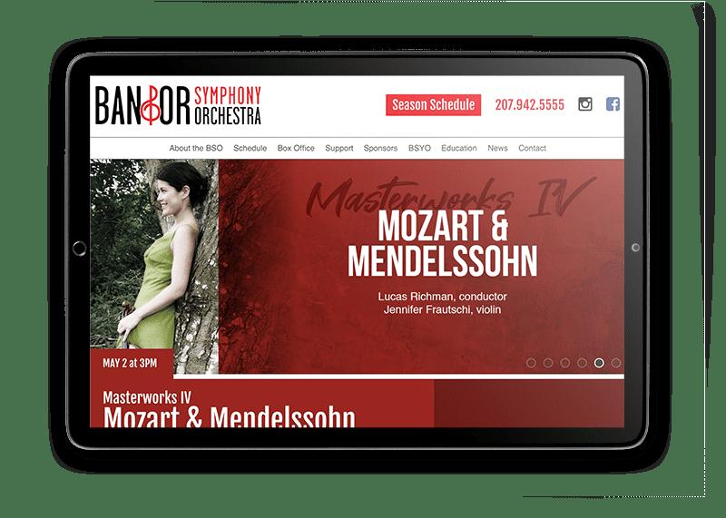 Bangor Symphony Web Example
