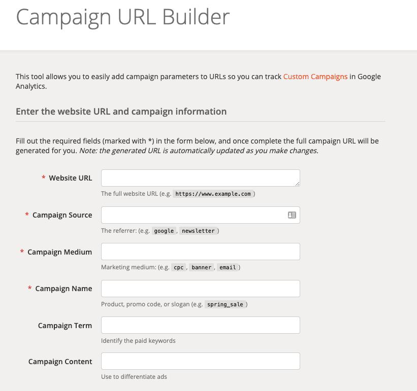 Campaing URL Builder