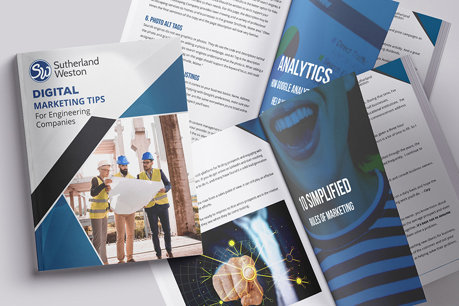 Digital Marketing For Engineering Firms Ebook Graphic